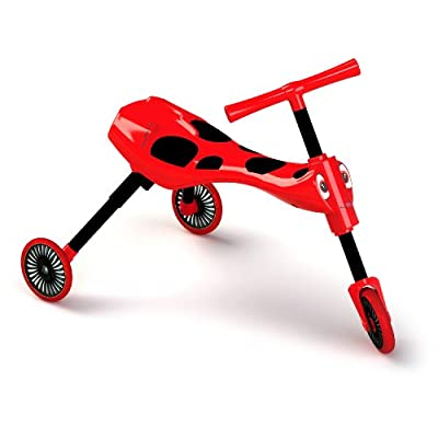 Scuttlebug Ride On - Walking Tricycle with a Foldable Design - Red: Toys & Games