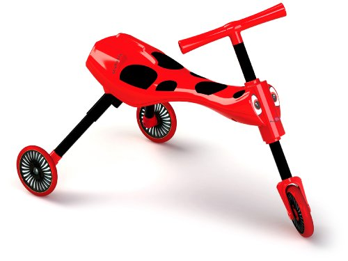 (Scuttlebug Ride On - Walking Tricycle with a Foldable Design - Red)