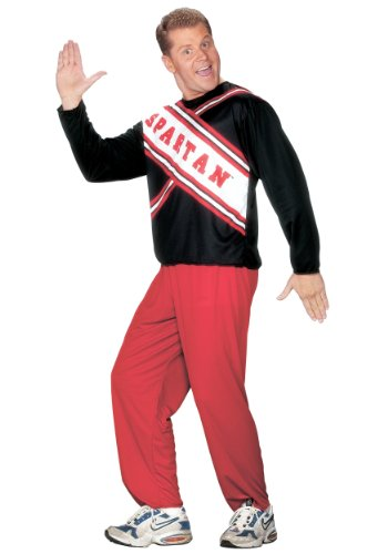 Funworld Mens Marvel Cheerleader Saturday Night Live Spartan Guy Costume, Standard (42-44) -