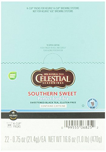 Celestial Seasonings, Perfect Iced Tea, Southern Sweet Iced Tea, K-Cup Portion Pack for Keurig K-Cup Brewers (Pack of 22)