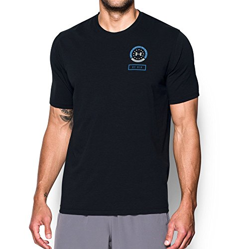 (Under Armour Men's Freedom By Air T-Shirt,Black (001)/Urban Blue, XX-Large )
