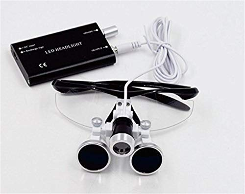 YSSP- Magnifying Glass with Light Led Lights Dental Loupes Binocular Dentistry Frame 2019 Magnifier Lamp for Jewelry Surgical Loupes (Color : Full Version, Size : 3.5X)