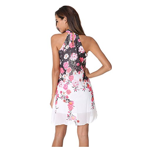 Knee Halter Length Stampa JUNHONGZHANG Estate Fashion Qualit Di Femmina Dress Dress Alta Backless Girly wwItX