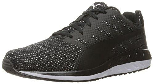 PUMA Men's Flare Metal Running Shoe, Black White, 7 M US