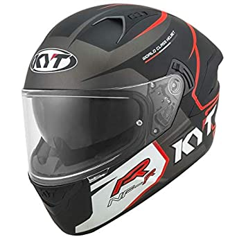 Amazon.es: KYT casco nf-r Track Matt Grey - L