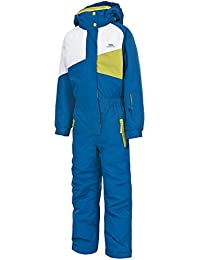 boys Trespass Boys Wiper Padded One Piece Skiing Jacket & Trouser Set Royal