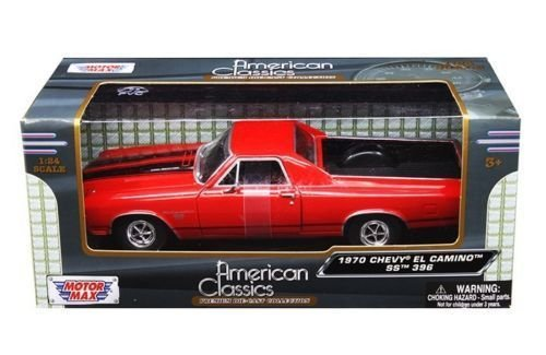 New 1:24 W/B AMERICAN CLASSICS COLLECTION - RED 1970 CHEVROLET EL CAMINO SS 396 Diecast Model Car By (El Camino Die Cast)