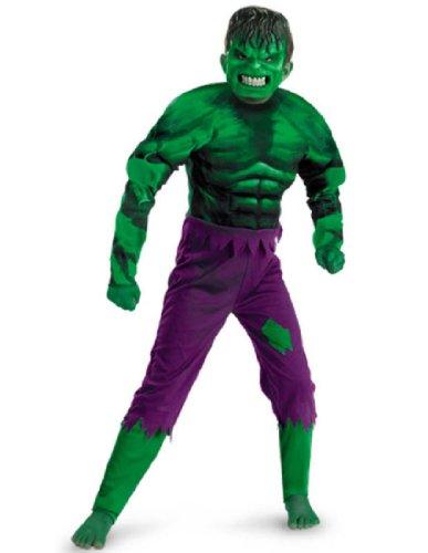 Hulk Classic Muscle - Size: Child S(4-6) (Child Classic The Hulk Costume)