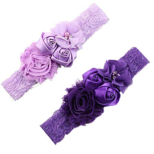 Cheap Ever Fairy Chiffon Lace Flower Baby Girls Turban Headband Head Wrap With Pearl