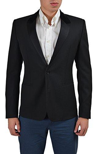 Dolce & Gabbana Wool Silk Black Two Buttons Tuxedo Men's Blazer US 38 IT 48 (Tuxedo Dolce & Gabbana)