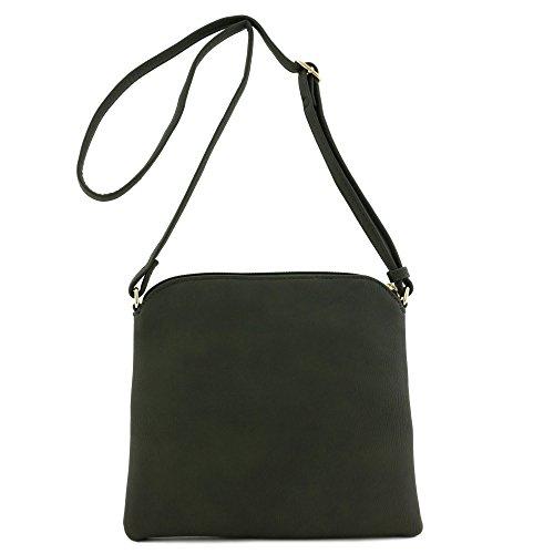 Grey Lightweight Black Dark Tassel Bag with Medium Crossbody pyvpY4q