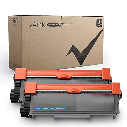 V4INK Compatible Toner Cartridge Replacement for Brother TN630 TN660 (Black, 2-Pack),for use in HL-L2340DW HL-L2300D HL-L2380DW MFC-L2700DW L2740DW DCP-L2540DW L2520DW HL-L2320D MFC-L2720DW L2740DW