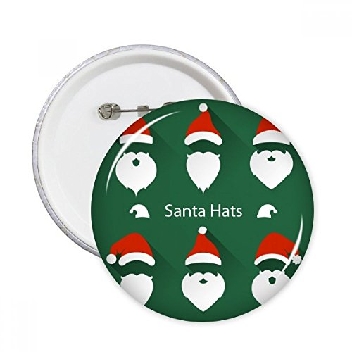 Merry Christmas Santa Claus Portrait Round Pins Badge Button Clothing Decoration Gift 5pcs - Santa Claus Portrait