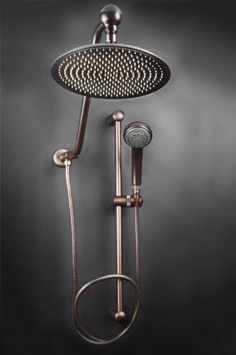 rain shower head oil rubbed bronze handheld spray atlantis oil rub bronze rain shower system installation kits amazoncom