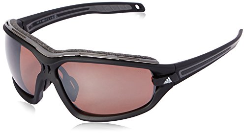 - adidas Evil Eye Evo Pro S A194 6055 Polarized Rectangular Sunglasses, Black Matte & Grey, 67 mm