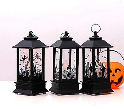Potiron Baifeng Halloween Vintage Potiron Ch/âteau Lampe F/ête Suspendu D/écor LED Lanterne Jardin
