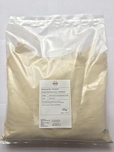 Bentonex SB - Sodium Bentonite Clay 5kg - Powder - Civil Engineering Grade - Lake & Pond Sealer Pottery & ceramics (1) RS Minerals Ltd
