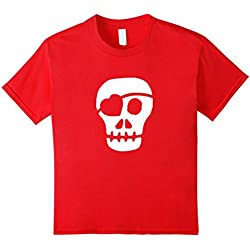 Kids Valentines Day T Shirt A Gift Men, Boys (Skull Pirate) - Kids 10 - Red