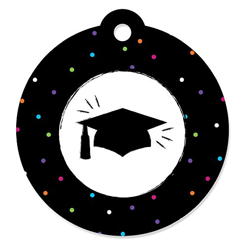 Hats Off Grad - Graduation Party Favor Gift Tags (Set of 20) (Tags Graduation Gift)