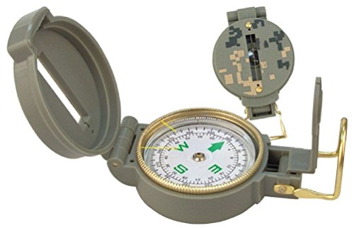Military Style Lensatic Compass - Liquid Filled W/ Magnifying Glass Acu Digital by Ovedcray Clothing
