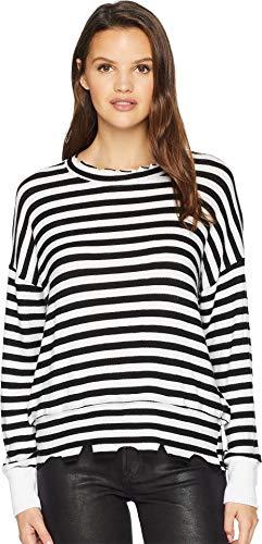 (LNA Women's Brushed Duncan Black/White Stripe Small)