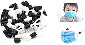 50 PCS Banpa - Cierre de cordón elástico de ajuste redondo con hebilla redonda para cordones de ajuste elástico, tapón antideslizante, accesorios de silicona de plástico suave