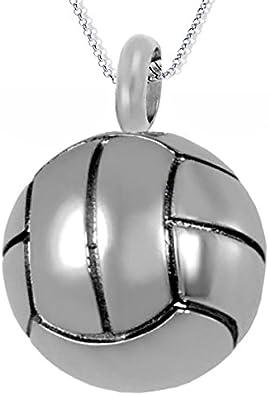 Colgante y cadena de plata con diseño de balón de fútbol, collar ...