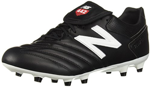 1789bf6bc New Balance Men s 442 Pro FG V1 Classic Soccer Shoe Black White 8.5 2E US