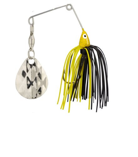 Strike King Mini-King Spinnerbait - Single Colorado Diamond Blade (Yellow Head Black/Yellow Skirt, 0.125-Ounce) 0.125 Ounce Lure