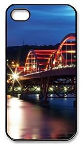 iPhone 4S Case and Cover -Guandu Bridge Taiwan PC case Cover for iPhone 4 and iPhone 4s ¡§CBlack