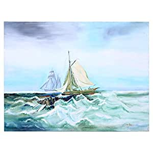 GrandUAE Canvas Multi Color Painting - Boats