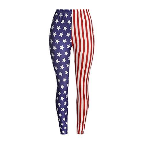Allywit American Flag Print Stretchy Capri Leggings Skinny Pants for Yoga Running Pilates Gym 4th of July Pant