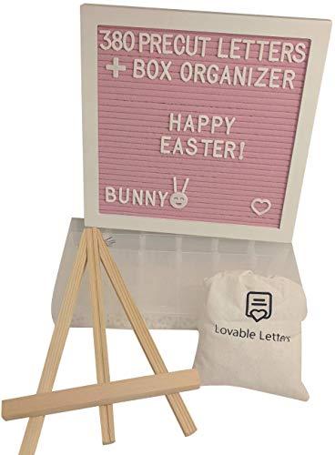 Pink Felt Letter Board White Oak Frame 10