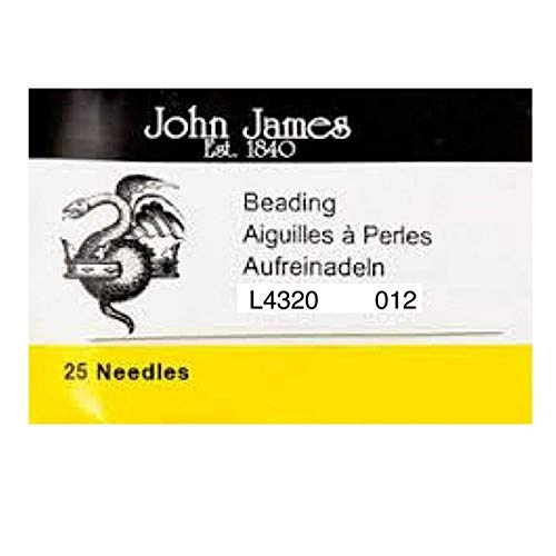 Supplies-Beading Needles-John James-Size 12-Quantity 25 Tamara Scott Designs