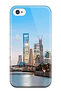 Iphone 4/4s PhzYNkF15113izqAm Shanghai Cityscape Tpu Silicone Gel Case Cover. Fits Iphone 4/4s