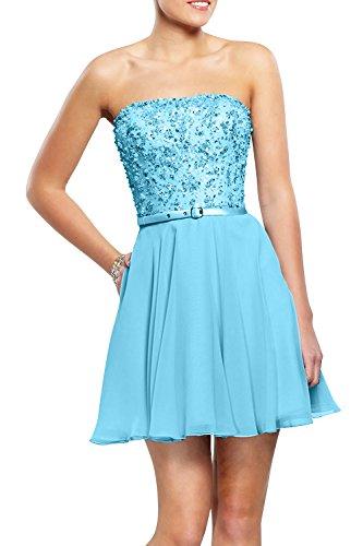 Abendkleider mia Pailletten Traegerlos Cocktailkleider Linie Mini A Chiffon Rock La Brau Festlichkleider Kurzes Blau Partykleider aRSUxYnwnq