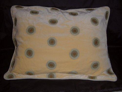 Crewel Pillow Polka Dot Cream Cotton Velvet (20X26)