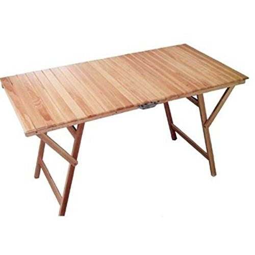 ILBOTTEGONE - Mesa de madera, plegable y extensible, para camping ...