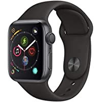 Apple Watch Series 4, 40 mm, Alumínio Cinza Espacial, Pulseira Esportiva Preta e Fecho Clássico - Mu662bz/a