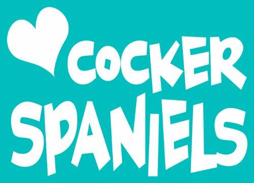 Cocker Spaniel Tail (Imagine This Car Window Decal, Heart Cocker Spaniels)