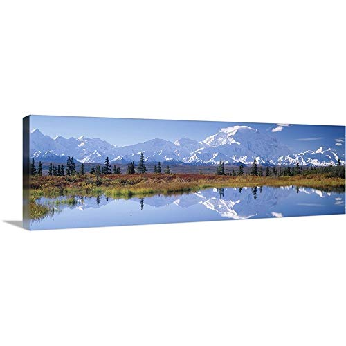 GREATBIGCANVAS Gallery-Wrapped Canvas Entitled Tundra Pond Denali National Park AK by 60