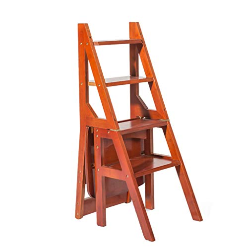 GY Step Stool - - Mahogany Step Chair, Multi-Function Folding, Family, Library, Office 4 Step Stool /+-+/