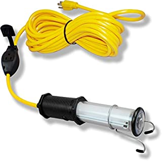 product image for Saf-T-Lite 1925-2025 Stubby II LED Work Light with End Light & in-Line Tool Tap, 25ft Cord