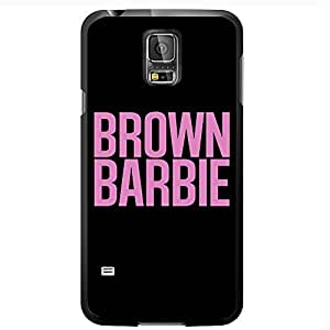 Brown Barbie Hard Snap on Phone Case (Galaxy s5 V)