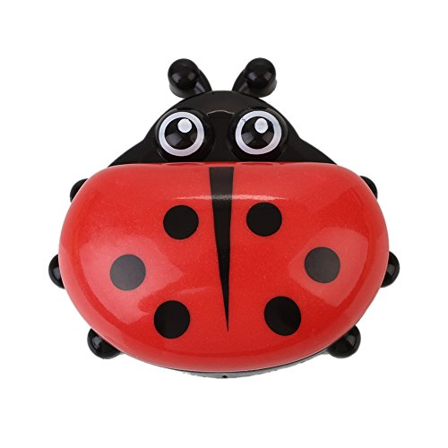 - KICODE Ladybug Colorful Plastic Soap Box Case Cover Holder Container for Travel