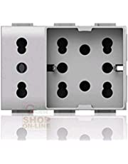 4Box 4B.V14.H21.XL Side Unika Compatibile con Vimar Plana, 250 V, Bianco
