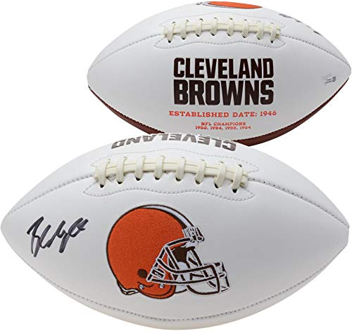 Baker Mayfield Cleveland Browns Autographed White Panel Football - Fanatics Authentic Certified - Autographed - Football Autographed Brown