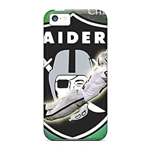 Protector Hard Phone Case For Iphone 5c With Allow Personal Design HD Oakland Raiders Pictures NataliaKrause