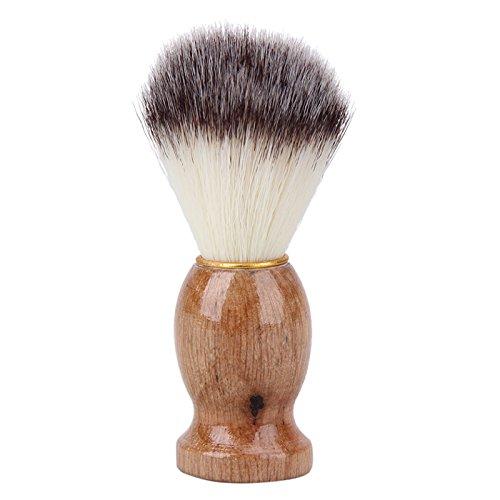 UYTSXFH - Cepillo de afeitado profesional para peluquerí a con mango de madera