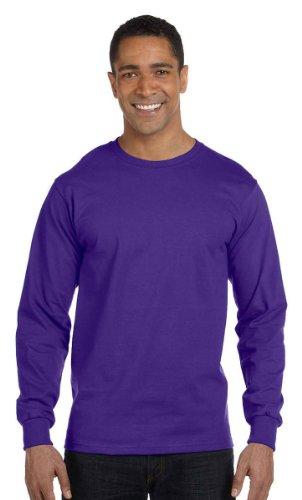 Hanes Beefy-T adulto bolsillo camiseta morado